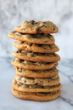 Ultimate Chocolate Chip Cookies are big, thick, chewy, soft in the middle, crisp at the edges, and loaded with chocolate chips!