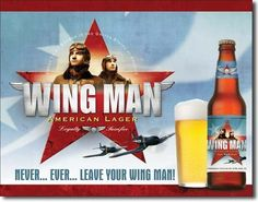 Wing Man Beer Tin Sign , 16x12 *** Want to know more, click on the image. (This is an affiliate link) #HomeDecorTips