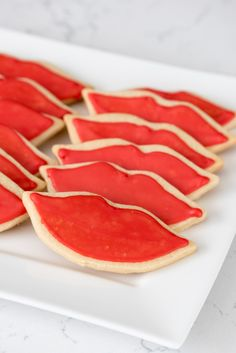 Taylor Swift Party - give Red Lip sugar cookies as a gift! These cookies are so easy to make and so fun!