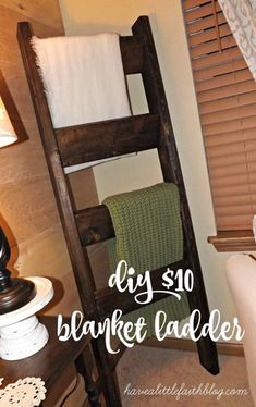 DIY $10 blanket ladder