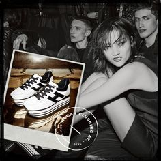 #‎HOGAN‬ black and white glamour.  H283 Maxi Platform sneakers from the Women's Fall-Winter 2015/16 Collection. ‪#‎HOGANClub‬ ‪#‎HOGANClubbingAt‬
