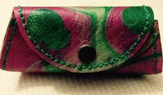 Marbling Leather Coin Purse