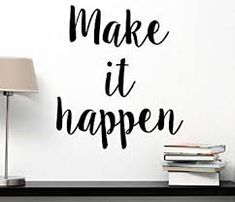 Make it happen inspirational wall quote decal Office motivational sign saying lettering home decor stencil wall plaque sticker art Inspirational Wall Quotes, Motivational Wall Art, Sign Quotes, Art Quotes, Instagram Wall, Make It Happen, Office Wall Decor, Vinyl Wall Decals, Lettering