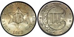 Called a trime in some Treasury Department records, the three cent silver coin was the smallest ever issued by the U.S. in terms of weight and thickness. Initially proposed in 1849, and again in 1850 in conjunction with a plan to reduce postal rates from five to three cents, production was finally authorized in 1851.