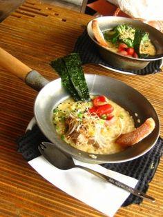 tuna salad and stewed pork ojiyan