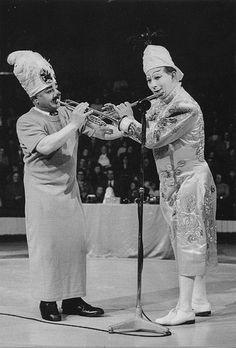 Charlie Cairoli & Paul (Freeman) at Blackpool's Tower Circus (1957)