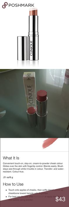 Clinique blushwear cream stick in rosy bush Brand new in box Clinique blushwear cream stick in rosy bush color. Unswatched! NO TRADES please. Have two available and can bundle for $60. Clinique Makeup Blush