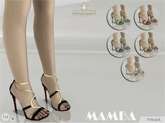 Madlen Mamba Sandals - The Sims 4 Catalog The Sims 4 Pc, Sims Four, Sims 4 Mm, Maxis, Sims 4 Mods Clothes, Sims 4 Clothing, The Sims 4 Cabelos, Sims 4 Cc Shoes, Sims 4 Cc Packs