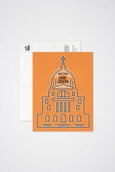 Saint Joseph Post Card - Main and Local Saint Joseph, Of Montreal, Post Card, Saints, Stationery, Greeting Cards, Art Prints, Basement, St Joseph