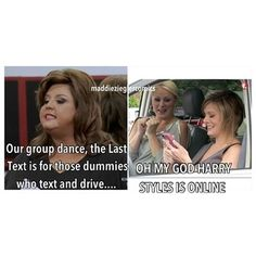 XD! No Way! DANCE MOMS HUMOR  But if your a true fan you know they weren't actually driving