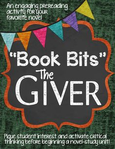 Engaging pre reading activity to do with your class for The Giver.