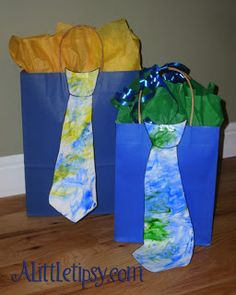 Father's Day Art Project and Gift Wrap Idea