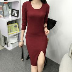 New autumn sexy jersey dress //Price: $22.99 & FREE Shipping //     #hashtag1