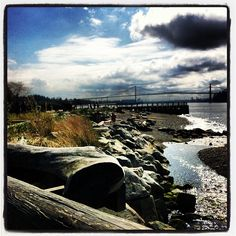 Ambleside Beach, West Vancouver - This is the beach me and my gang would hang out at.  J