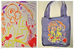 Hiho Batik is now making batik totes and tees personalized from your own kid's artwork. Awesome teacher or birthday gift (and we could never do this ourselves.)