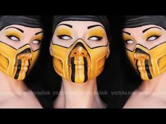 ▶ Scorpion Makeup Tutorial (Mortal Kombat) - YouTube