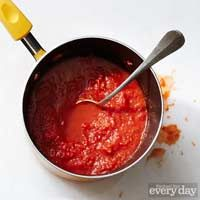 pizza sauce with balsamic vinegar.  good with pizza with meat or shrooms