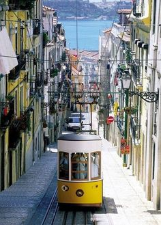 the very famous Yellow trolley. My son and I had fun there. Lisboa, Portugal
