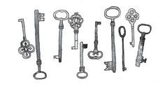 draw #key #vintage   illustration.   Pinterest   Keys, Key ...