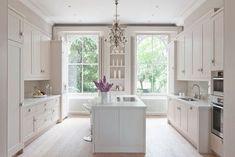 Contemporary Kitchen by London Kitchen & Bath Designers Mowlem & Co White Kitchen Interior, Classic White Kitchen, All White Kitchen, Interior Design Kitchen, New Kitchen, Kitchen Ideas, Shaker Kitchen, Funky Kitchen, Wooden Kitchen