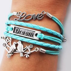 H&F high quality biggest promotion blue braid rape bird dream love charms bracelet nice christmas gift 2016 fashion Cute Bracelets, Fashion Bracelets, Bangle Bracelets, Surfer Bracelets, Bangles, Necklaces, Jewelry Accessories, Fashion Accessories, Accessories Online