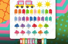 Kawaii Ice Cream Planner Stickers for your Horizontal or Vertical Erin Condren Life Planner, Happy Planner, or any daily planner! by MoogleyandMe on Etsy