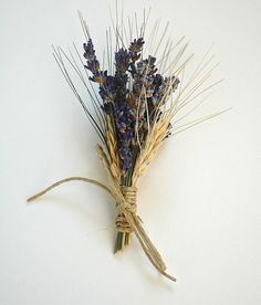 Custom  Lavender  and Wheat Boutonniere or by paulajeansgarden, $7.00 (ETSY- and paula is from missoula!)