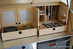 designs for teardrop campers | This Moby1 galley has a place for everything. The design is really ...