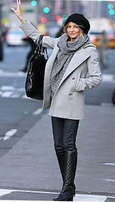 Cameron Diaz does winter right  she always manages to look amazing