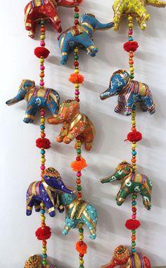 Indian Home Decor Antique Look Door Hanging Ornaments Vintage Elephant Toran 33 Mobiles, Barn Door Decor, Destination Wedding Favors, Diwali Diy, Plastic Bottle Crafts, Tv Wall Design, Vintage Elephant, Hanging Wall Art, Wall Hangings