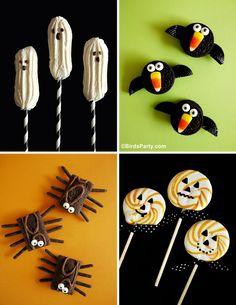 Cake it Pretty: 4 NO-BAKE Halloween Sweet Treats! by Bird's Party