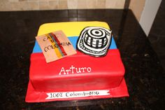 Colombiano Cake, Colombian flag cake