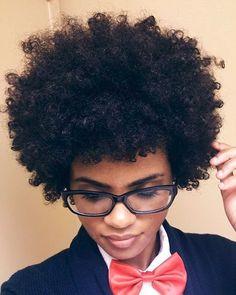 loving this coily curly fro!  #Blackgirlsrock #blacknerdsunite #fro #naturalhair #bowtie #naturalista