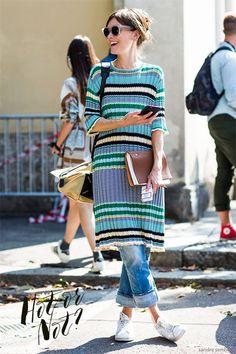 Hot or Not: vestido sobre calça