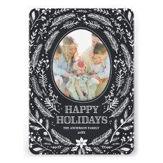 Winter Foliage | Holiday Photo Card