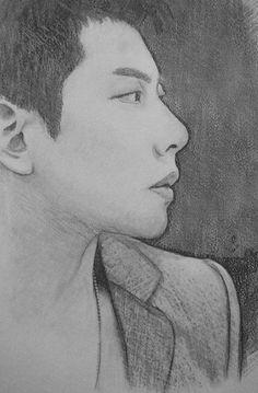 https://flic.kr/p/rrukLA | Park Hyo Shin | my charcoal and pencil sketch