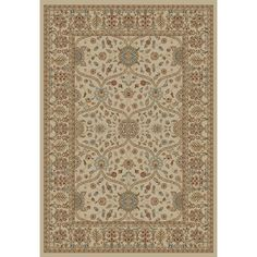 $68.02 Concord Global Valencia Ivory Rectangular Indoor Woven Oriental Area Rug (Common: 9 x 13; Actual: 111-in W x 150-in L x 9.25-ft Dia)