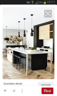 kitchen interior design for small house Modern Kitchen Design, Interior Design Kitchen, Modern Interior, Modern Design, Minimalist Interior, Minimalist Decor, Minimalist Style, Black Kitchens, Home Kitchens