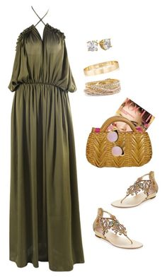 """Summertime"" by sistagirll on Polyvore featuring Oscar de la Renta, René Caovilla, Torrid, Jules Smith and Fendi"