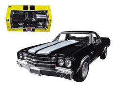 1970 Chevrolet El Camino SS Black 1/24 Diecast Car Model by New Ray