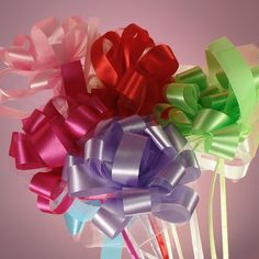 Rainbow colored bows for weddings!