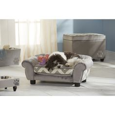 @Overstock.com - Enchanted Home Pet Small Lotus Furniture Pet Bed - Enchanted Home Pet furniture eases your pet into a luxurious cushion that engulfs them in complete comfort and warmth. A trendy chevron pattern and versatile grey color completes this comfortable pet bed.  http://www.overstock.com/Pet-Supplies/Enchanted-Home-Pet-Small-Lotus-Furniture-Pet-Bed/9028648/product.html?CID=214117 $89.99