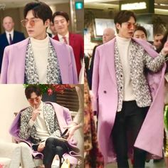 Korean celebrity fashion, actor, #이민호 #Lee Min-ho #Dior Homme 2017 S/S suit #Versace coat