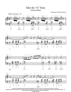 "Take the ""A"" Train by Duke Ellington Piano Sheet Music 
