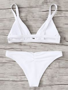 8123ea4617fc3 Harness Ribbed Top With Low Rise Bikini Set in 2019 | Outfits ...