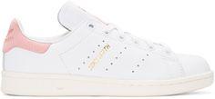 adidas Originals: White & Pink Stan Smith Sneakers | SSENSE