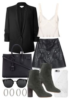 """""""Untitled #20499"""" by florencia95 ❤ liked on Polyvore featuring Helmut Lang, Native Union, Yves Saint Laurent, Isabel Marant, Calvin Klein Collection and Forever 21"""