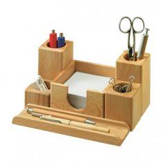 Organiseur de bureau en bois