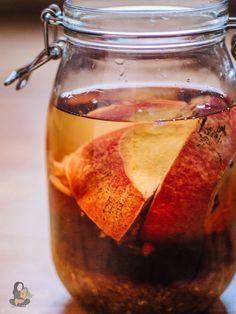 Granatapfel Likör, als Weihnachtsgeschenk oder einfach für sich selbst. Zu finden im Gemüseregal