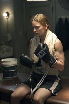 Hilary Swank as Maggie Fitzgerald, Million Dollar Baby (2004) - one of my fave movies hands down!! #boxer